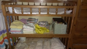 And assortment of diapers
